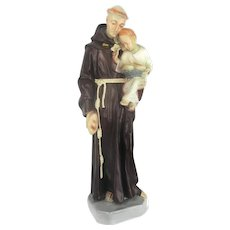 Large Saint Anthony Padua Infant Child Statue Figurine Finder Lost Articles Resin Sweet 25.59""