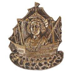 ca 1892 Columbian Exposition Chicago Worlds Fair Official Souvenir brooch Victorian