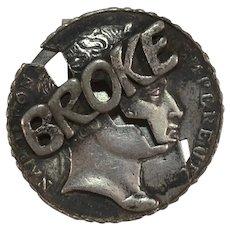 Novelty Silvery Broke Coin Money Clip