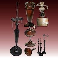 VFine 19c English Turned Mahogany Table Lamp