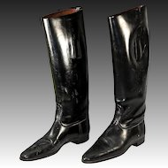 An Old Vintage to Antique Pair of English Riding Boots for Display - Nicely Preserved