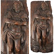 """Antique 1600s French Hand Carved Figure of Jesus Christ (?), 13"""" x 6"""" x 2"""""""