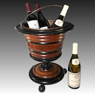 Big Antique Victorian Era Wooden Wine Cooler, Holds 3-4 Bottles