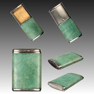 Superb c.1900-1920 Antique Art Deco Shagreen Match Vesta, Holder, Etui