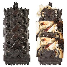 Antique Hand Carved Black Forest Plaque for Daily Calling Cards, Appointments, Mail