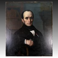 Superb Antique Oil Painting, Portrait of Handsome Man with Snuff Box, c.1820-30