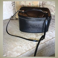 EC! Vintage LOUIS VUITTON Nice 2Way Cosmetic Hand Bag, Black EPI M48015, Tag, Shoulder Strap