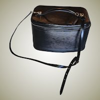 EC! Vintage LOUIS VUITTON Nice 2Way Cosmetic Hand Bag, Black EPI M48015, Tag, Shoulder Strap