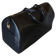 Vintage Louis Vuitton 45CM Keepall, Luggage, Bag, Black Epi Leather, w Lock, Classic! Excellent!
