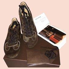 Vintage 2009 Louis Vuitton GO 39.5 Sport Shoes, Original Box, Receipt, Etc., Excellent (size 9)