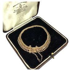 """Antique Edwardian 10k Gold Fill Bracelet, 7"""" Length, in Antique Box, Case"""