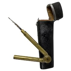 Antique English Shagreen Etui, Drafting Tools Kit, Architect or Cartography Necessaire