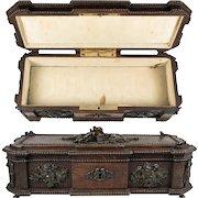"Antique ""Maison Boissier"" Signature Chocolates, Chocolatier's Presentation Box, Carved Wood, 19th C."