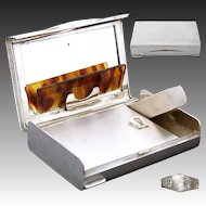 Fab Vintage Italian .800 (nearly sterling) Silver Minaudière, Compact, Art Deco, Pristine