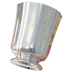 """Elegant Antique French Sterling Silver Wine or Mint Julep Cup, Tumbler """"Lorraine"""", """"AS"""""""