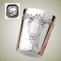 """Antique French Sterling Silver Louis XV Style Wine or Mint Julep Cup, Tumbler """"Timbale"""""""