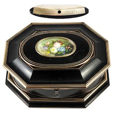 Superb Antique TAHAN, Paris Jewelry Box, Casket with Miniature Painting, c.1840