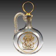 Elegant Antique French Crystal Carafon, Petit Carafe for One Person Place Setting, c.1830-50