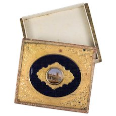 Antique French Grand Tour Eglomise Box for Chocolates, Bonbons, c.1830-60, Eglomise Painting