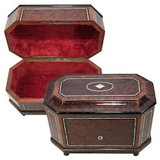 "Tantalus? Antique French Napoleon III Era Tall Box, 12"" Casket, Stationery Chest or ?"