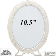"""Antique American Sterling Silver 10.5"""" Oval Picture Frame, Mauser Mfg. Co., New York c.1887-1903"""