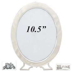 "Antique American Sterling Silver 10.5"" Oval Picture Frame, Mauser Mfg. Co., New York c.1887-1903"