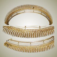 Superb RARE Antique French Empire Tiara, Seed Pearls (French Faux), EC