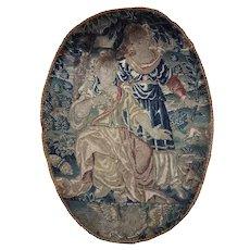 Antique French c.1600s Fine Needlepoint Tapestry Sampler, Frame or Make Throw Pillow
