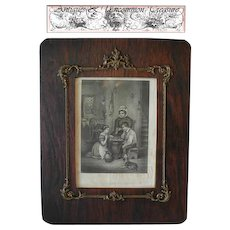 Rare Antique Victorian Era 19th c. French Gilt Gesso & Wood Regency Style Frame