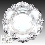 "Large Vintage 1949 Gorham Sterling Silver ""Melrose"" Pattern 11.5"" Serving Bowl, Floral"