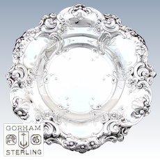 """Large Vintage 1949 Gorham Sterling Silver """"Melrose"""" Pattern 11.5"""" Serving Bowl, Floral"""