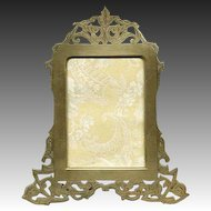 Superb LG 19c Austrian or French Reticulated Gilt Bronze Frame