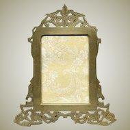 Superb LG 19c Austrian or French Reticulated Gilt Bronze Frame