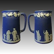 Fine Antique to Vintage Early 1900s Wedgwood Jasperware Syrup or Cream Pitcher