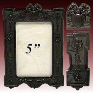 Antique Victorian Era Carte d'Visite Sized Gutta Percha Picture Frame