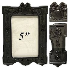 Antique Victorian Era Carte d'Visite Sized Gutta Percha Picture Frame