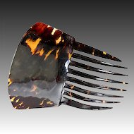 Large Antique Faux Tortoise Shell Tiara, Mantilla, Ornamental Hair Comb - Tortoiseshell