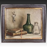 Charming Antique Oil Painting, Still Life, Signed by Dutch Artist, A. Vanderveken, in Frame