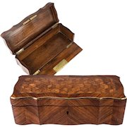 Opulent Napoleon III Antique French Kingwood Glove, Document or Jewelry Box, 10.25""