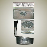 Antique Whiting & Co. Sterling Silver Calling Card Case, 1870-1910