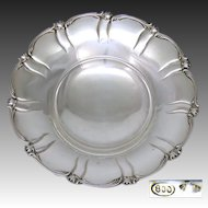 "Vintage Italian .800/1000 Silver Footed 10"" Fruit or Bread Bowl"