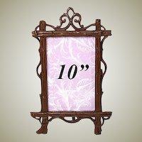 """Antique Victorian Black Forest Carved 10"""" CDV Picture Frame"""