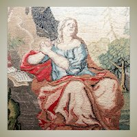 RARE 1600s to 1700s Antique Micro Petitpoint Embroidery Tapestry, Needlepoint, Needlework