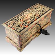 Fine Antique French Boulle & Dore Bronze Glove Box, Jewelry Chest, Napoleon III (c.1850-70)