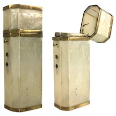 Antique French Mother of Pearl Scent Bottle Etui, Case, Hinged - Cigar?