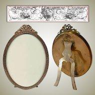 Fabulous LARGE Antique Stern Bros, NY Gilt Ormolu Oval Frame