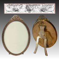 Fabulous LARGE Antique Stern Bros, NY Gilt Ormolu Oval Frame