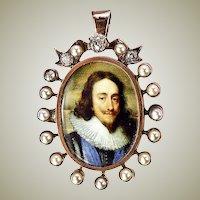 Antique Victorian Era 12k, 10k, Diamonds Pearls Locket  - Over 1/2 ct Diamonds!