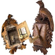 "Antique Black Forest Desk Musical Mechanical Hat, Coat Rack, 11.5"" w Game Bird, Pheasant"