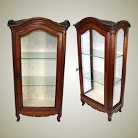 "Antique French 28"" Miniature Bru Doll Sized Armoire, Ebaniste Apprentice Piece?, Perfect Vitrine"